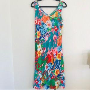 Jams World Origami Flower Tank Maxi Dress